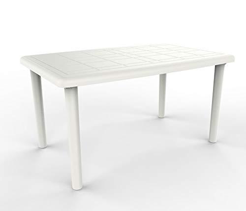 resol Mesa de jardín Exterior Rectangular Olot 140x90 - Color Blanco
