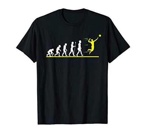 Coole Volleyball Evolution Geschenkidee Volleyball Lustig T-Shirt