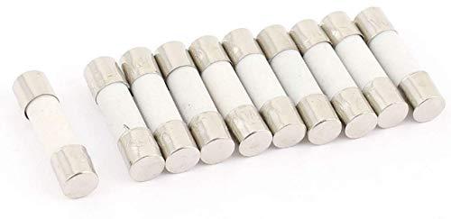 10x Feinsicherung Glassicherung | Keramiksicherung Flink 5x20 / 6x30 mm 0,1A-30A 250V (5x20mm (Keramik), 6,3A)