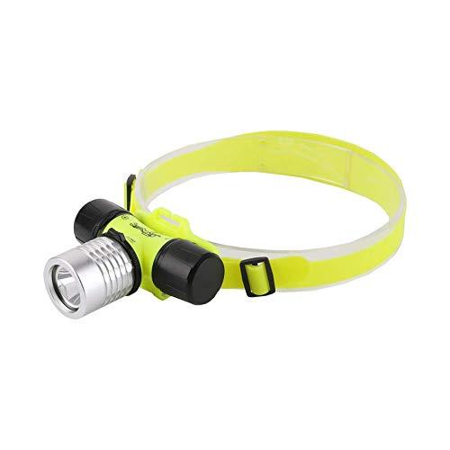 Linterna frontal de buceo LED Linterna frontal Linterna de trabajo de buceo Linternas para buceo al aire libre Camping Senderismo Pesca Reparación de automóviles de emergencia 3 modos (batería no incl