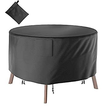 Waterproof and Dustproof Furniture Set Covers Fading Resistant Tear-Resistant Patio Side Table Cover Durable Anti-UV 420D Heavy Duty Outdoor Furniture Table and Chair Cover by Oxford Cloth Cover