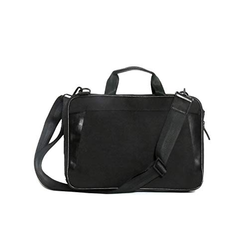 Boconi Collins Leather Slim Briefcase in Black