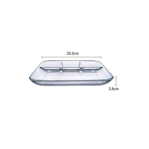 XCVB glas fruitbord glas scheidingswand levensmiddelkwaliteit fruitbord van gehard glas magnetron verwarming scheiding, transparant
