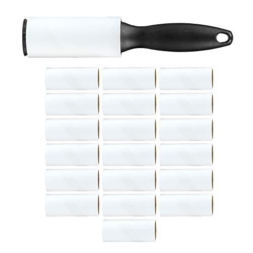 Rubberneck 20er Set Fusselentferner - 720 Blatt - Extra klebrige Fusselrolle, Tierhaarentferner, Staubentferner für Kleidung, Sofa, Auto, Teppich und Bett