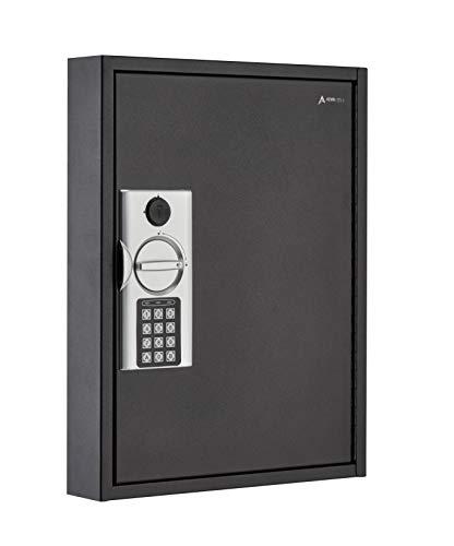 AdirOffice 60 Hooks Key Cabinet with Digital Lock - Heavy Duty Secured Storage, Steel- Ideal for Homes Hotels Schools & Businesses (Black)