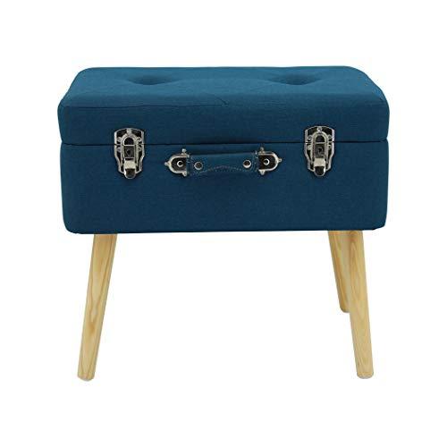 Happy Home Company 12060 - Taburete otomano con compartimento de almacenamiento, diseño de maleta