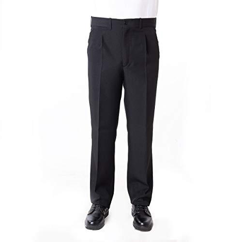 Pantalón Camarero Hombre Color Negro/Marino - Tallas Grandes - Camarero, músico, Conductor autobús, Uniformes, etc. (46, Negro)