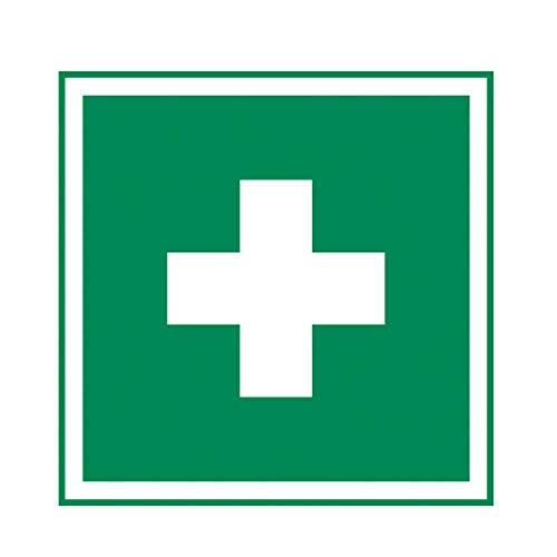 Holthaus Medical Rettungszeichen Erste-Hilfe Schild Hinweis Tafel, nachleuchtend, 20x20cm