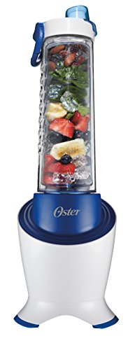 Oster BLSTPB2-WBL MyBlend Pro Series Personal Blender with Condensation Free Bottle, Travel Clip and 4 Reusable Straws, Blue
