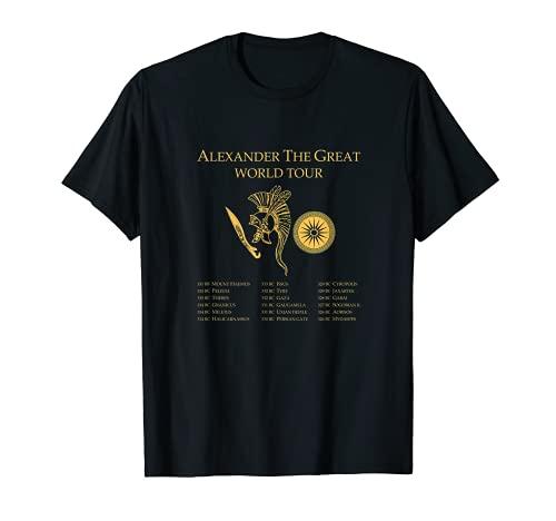 Alexander El Gran Tour Mundial - Historia Griega Antigua Camiseta