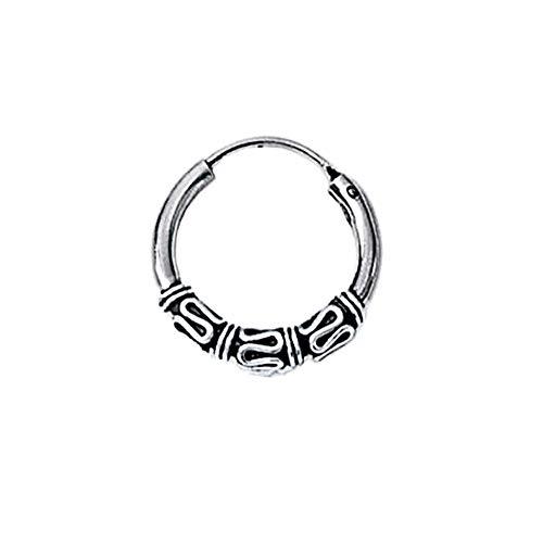 NKlaus 925 Silber Einzel Ohrring Keltische CREOLE Gothic Celtic Bali EINZEL 16mm 5042