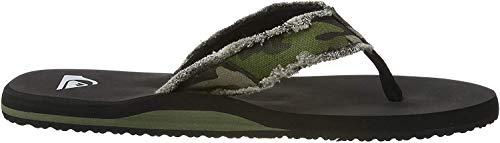 Quiksilver Monkey Abyss, Zapatos de Playa y Piscina Hombre, Verde Green Brown Black Xgck, 45 EU