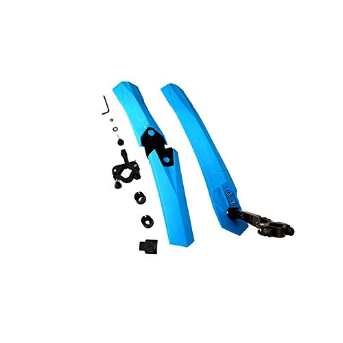 Yubingqin Guardabarros de bicicleta para ciclismo, guardabarros de bicicleta de carretera, accesorios resistentes al agua, guardabarros de goma de plástico (color azul)