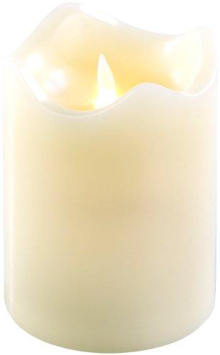 Britesta Weihnachsdeko: Echtwachskerze mit beweglicher LED-Flamme, 90 x 130 mm, Gr. M (LED-Kerzen Wackeldocht)