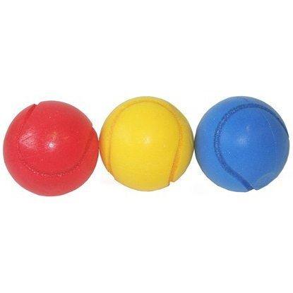 3 x Lightweight Soft Squidgy Rubber Tennis Ball Sized Balls