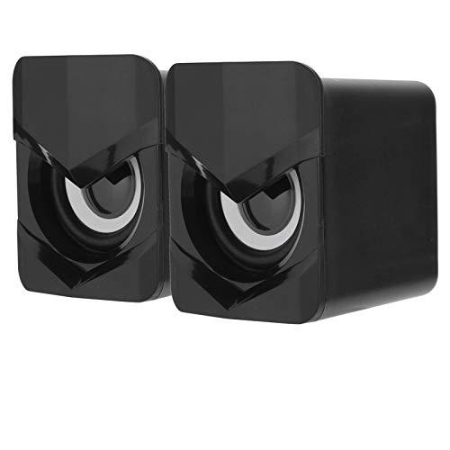 wendeekun Altavoz portátil, Altavoces para computadora, Mini Altavoces 2.0 Estéreo Computadoras portátiles de Escritorio pequeñas Reproductor de música USB para el hogar, Fiestas, Actividades