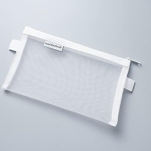 Kangzhiyuan Estuche transparente de malla para lápices, bolsa de nailon con capacidad para lápices, para regalo, suministros de oficina, papel creativo (color 329)