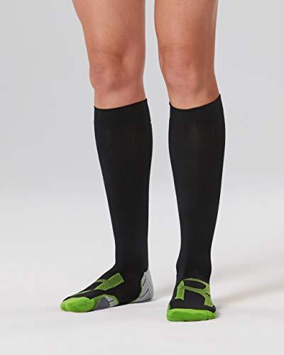 2XU Damen Compression for Recovery WA4424 Socken, schwarz/grau, S
