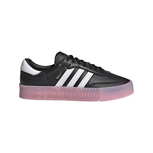 adidas SAMBAROSE W, Zapatillas Deportivas Mujer, Core Black FTWR White True Pink, 37 1/3 EU