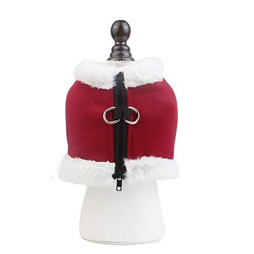 OMGMAN Winter Plus Velvet Brustgurt Kleine und mittlere warme Weste Art-Reißverschluss-Design ist einfach zu tragen Nacht Reflektierende Sicherheits Reisen,red,XL