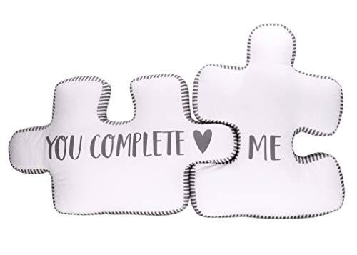 Puzzle Kissen You Complete me