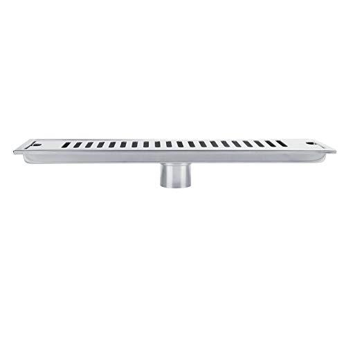 Desagüe de Piso Colador de Piso de Acero Inoxidable Antisecado para baños Cocinas(40cm)