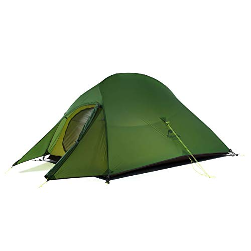 Naturehike Cloud-Up 2 Person Lightweight Backpacking Waterproof Tent Easy Setup - 4 Season for Outdoor Camping,Backpacking,Hiking,Mountaineering Travel(Forest Green(20D Nylon))