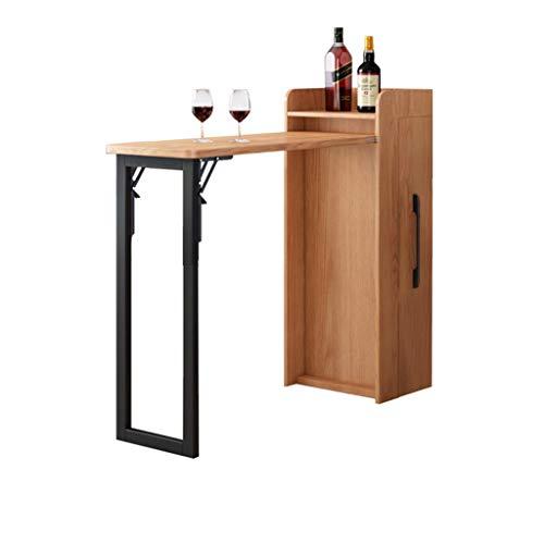 Feed – Armario de vino plegable plegable pequeña mesa plegable para espacios pequeños, aparador con función de almacenamiento + barba plegable descapotable escritorio Home Office mesa plegable