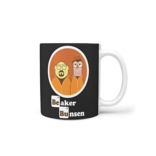 Beaker Bunsen Mixen thee mok met oor keramiek retro beker - klassiekeramische cadeaus, geschikt voor restaurant (11 oz)