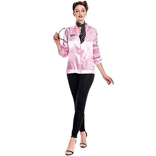 Disfraz Pink Baby Chaqueta Pantalón Pañuelo Mujer Carnaval Década 50's (Talla L) (+ Tallas)