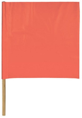 Safety Flag SF24-36 24-Inch Vinyl Safety Flags with Dowel, Red/Orange -  Safety Flag Co