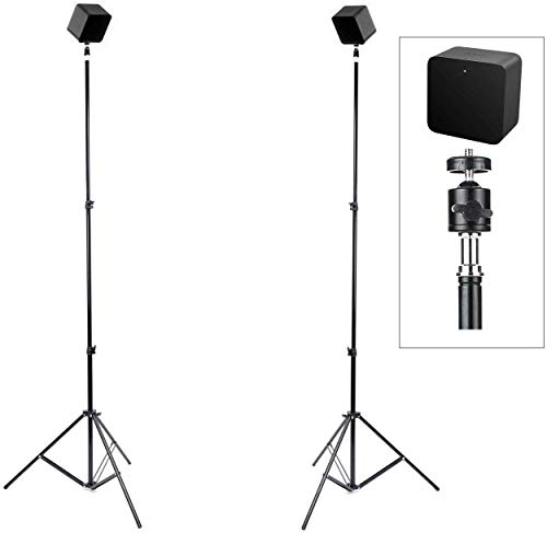 Skywin VR Tripod Stand Compatible with SteamVR Base Station 2.0 - Sensor Stand and Base Station for Sensors and Oculus Rift Constellation (2-Pack)