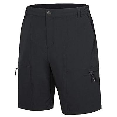 Libin Men's Outdoor Hiking Shorts Lightweight Quick Dry Stretch Cargo Shorts Travel Fishing Golf Tactical Shorts, Black M