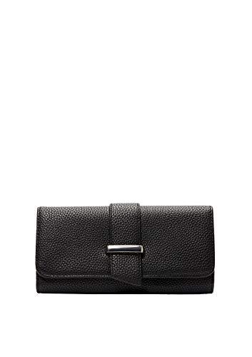s.Oliver (Bags Damen 39.001.93.2385 Portemonnaie Geldbörse, black, 1x10x19 cm
