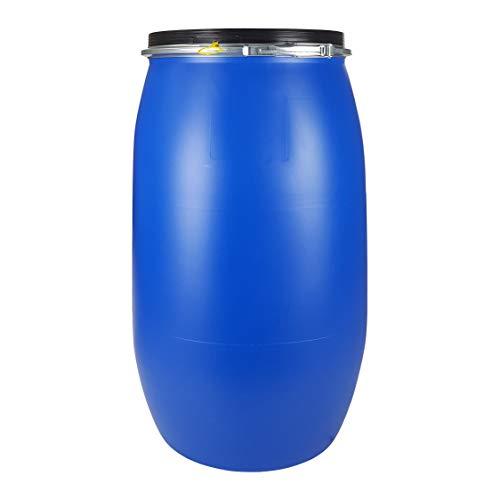 Bidón 120 Litros Cierre Ballesta Hermético de Plástico, para productos químicos y uso alimentario, estanco, Homologado ADR.