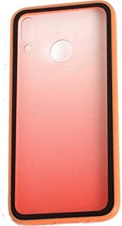 Kaltel Gsm Huawei Y7 Prime 2019 Estel Renk Geçişli Soft Silikon Kılıf - Turuncu