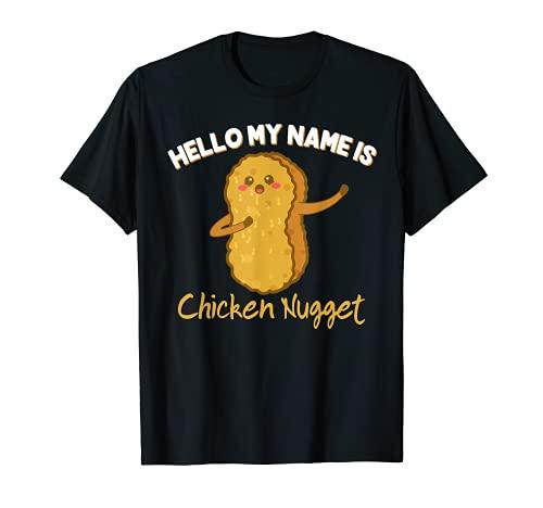 Hello mi nombre es Disfraz de pepita de pollo para niños Camiseta