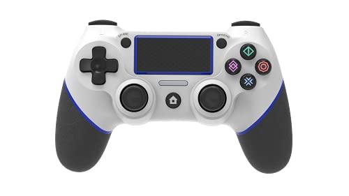 Wireless Controller für PS4,Wireless Playstation 4 Controller für Playstation 4/Playstation 4 Slim/Playstation 4 Pro/PC/Laptop mit Headsetanschluss,Vibrationsmotoren,RGB-Anzeige & Anti-Rutsch-Griffen