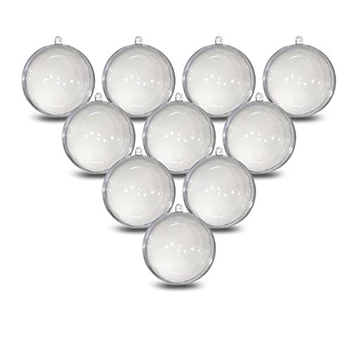 Acryl Kugel A665010 - Palline in acrilico, Ø 5 cm, con occhiello per appenderlo, 2 pezzi, 10 pezzi, in plexiglas, palline di Natale, in plastica trasparente