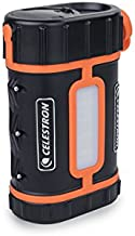 Celestron - PowerTank Lithium Pro Telescope Battery – Rechargeable Portable 12V Power Supply for Computerized Telescopes - 17 hour capacity/ 158.74Wh - Red/White LED Flashlight - 2 USB Ports