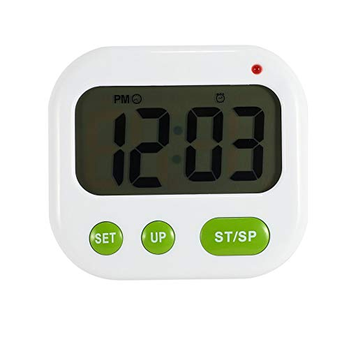 Fransande Luminova Reloj despertador con vibración LED digital temporizador electrónico Candy Watch pantalla de escritorio reloj estudiante reloj de escritorio Gadgets verde + luz naranja