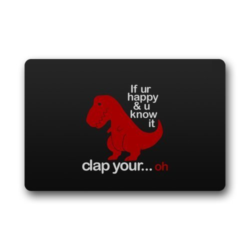 Funny Sad Red Dinosaur with Funny Quotes Non-Slip...