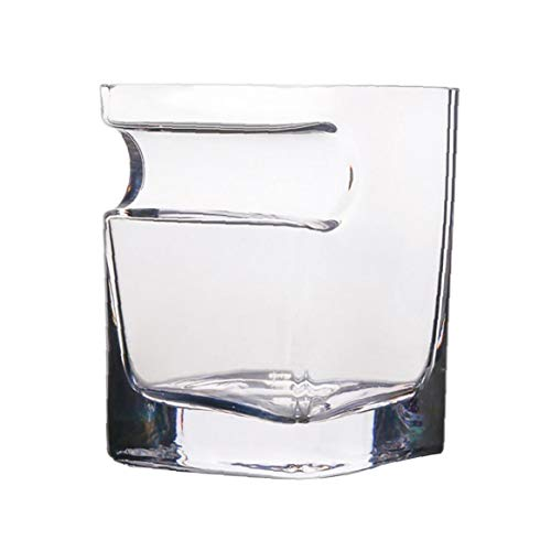 Heall Botella de Cristal de Cerveza cigarro Vino Whisky Taza de Vidrio con el cigarro Groove del Estante del sostenedor del cenicero de múltiples Funciones té café Taza de Cristal índice Suministro