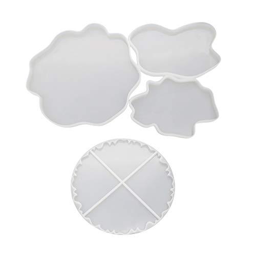 Gießformen aus Kunstharz, DIY Kristall-Epoxid-Form, unregelmäßige Untersetzer, Tassen, Pad, Handarbeit