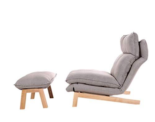 Tragbares Sofa Sofa Freizeitsitz Einfach Zusammenklappbar Lazy Couch Schlafzimmer Wohnzimmer Freizeit Bequeme Liege Kleines Sofa 74 × 65 cm (Farbe: Grau, Größe: B)
