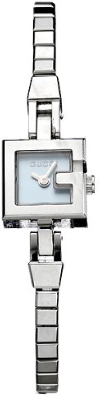 Gucci, orologio da donna, in acciaio inossidabile e quadrante quadrato YA102537