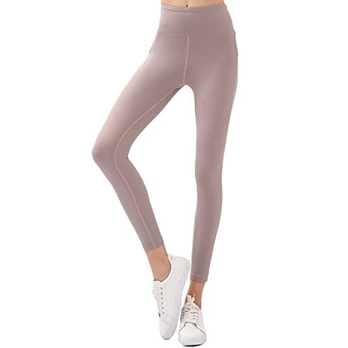 GvvcH Leggings de Cintura Alta para Mujer para Pantalones de Yoga Fitness Leggings Deportivos de Entrenamiento Deportivo para Mujer Butt Gym Leggins Mujer Push Up,Pink,L