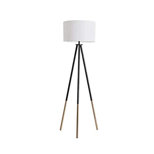 LSCZQ Elegante staande lamp met modern design in Europese stijl, houders van natuurlijk rubber en lampenkap van linnen, geschikt voor werkkamer, kantoor, kinderkamer of slaapkamer.