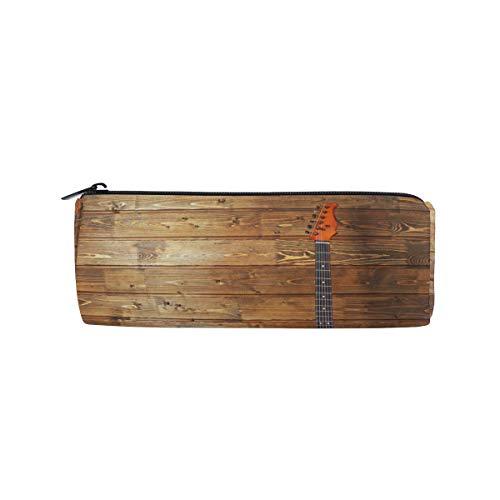 Ahomy - Estuche para lápices y guitarras eléctricas con cremallera de madera...