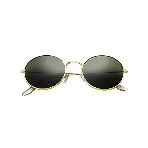 MEILUAIMU Gafas de Sol Vintage de Forma Redonda para Hombre y Mujer, Gafas de Sol Unisex de protección UV400, Gafas de Sol de Viaje, Gafas de conducción Anti-Ultravioleta